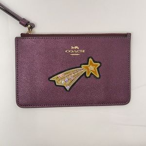 Sale! Coach Wristlet in Raspberry w/ Star Design